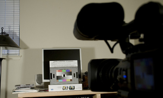 Calibrating the JVC HD100 with a DSC Chart